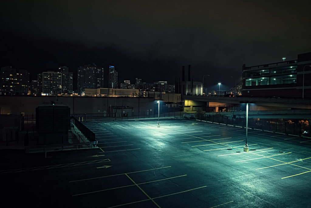 An abandoned parking lot for prostitution