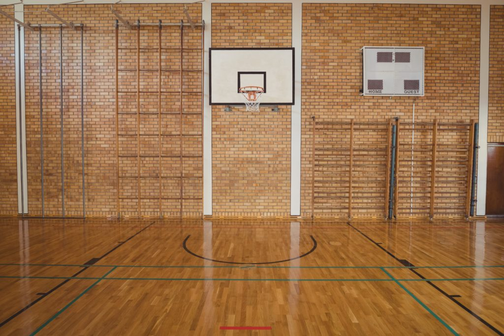 A basketball court where sexual assault by a staff person occurred